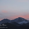 Meeker and Longs Peak with Sunset Colors from the junction of Highway 36 and Fish Creek Road.