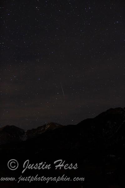 Geminid Meteor Streak