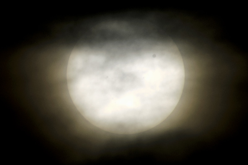 Partially shrouded Transit of Venus, June 6th, 2012.