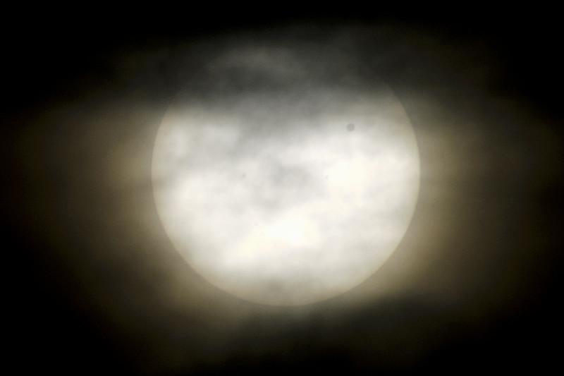 Partially shrouded Transit of Venus, June 6th, 2012.
