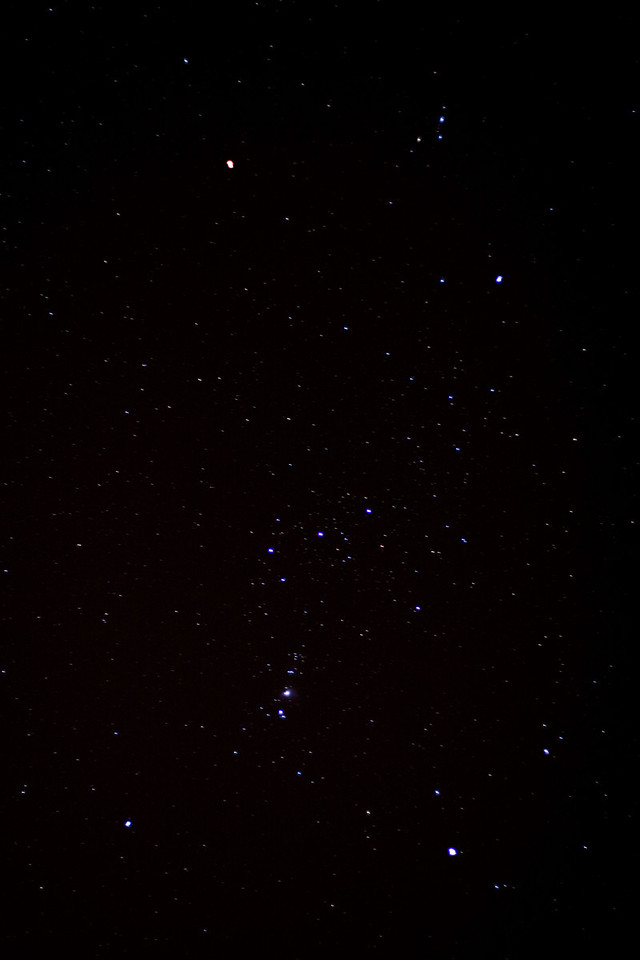 My first decent picture of Orion. 50mm 1.8