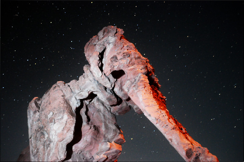 Partial facial view of Elephant Rock, Valley of Fire, Nevada