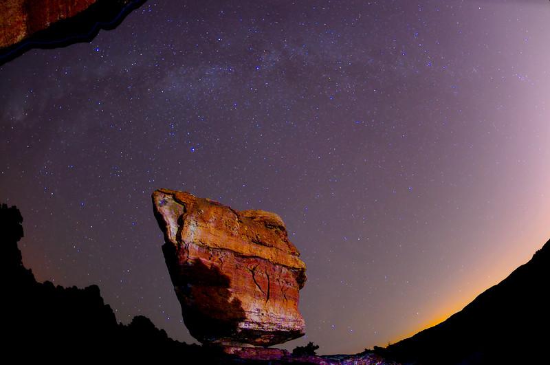 Balancing Rock, Garden of the Gods, Colorado.