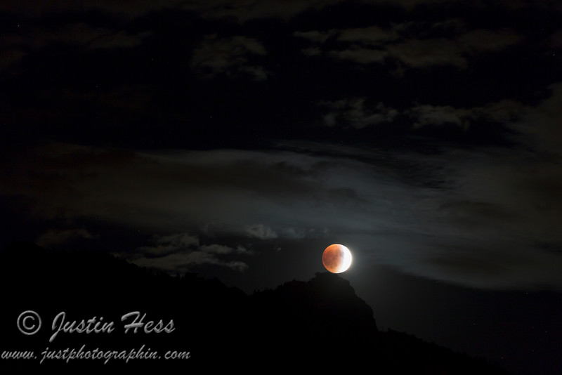 Eclipsed Moon Rising