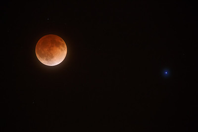 Blood Moon With Spica