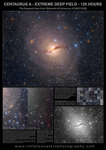 Large Format Poster: Centaurus A Extreme Deep Field - 120 Hours
