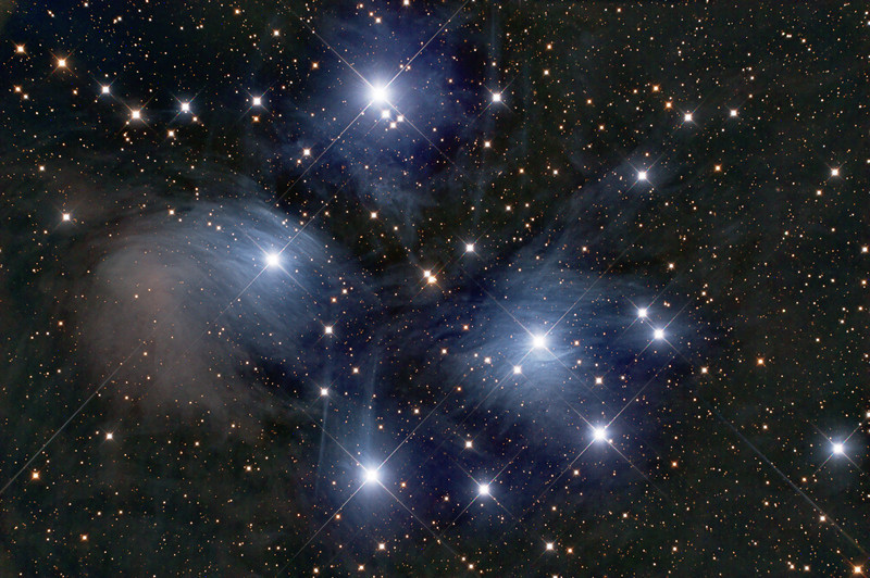 M45: the Pleiades open cluster - the Seven Sisters