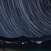 Star Trails with Comet C/2020 F3 (NEOWISE) NW over Lake Isabella, CA. 07-24-2020