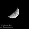 Waxing Crescent Moon; Nearly the first quarter Moon, which is 2-17.