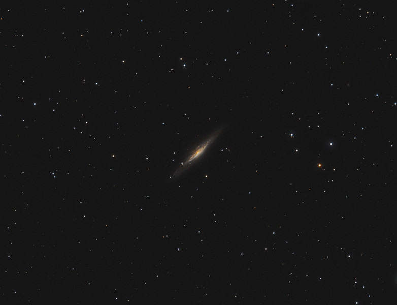 Target:  NGC 2683 (spiral galaxy in Lynx) <br /> <br /> Distance from Earth:  16 million light-years<br /> <br /> Image FOV:  43 x 33 arcmins<br /> <br /> Telescope: Takahashi TOA-130 (f/6.0) <br /> <br /> Camera: Starlight Xpress SXVR-H16<br /> <br /> Images: Captured at an image scale of 1.96 arcsec/pixel; 35, 180 sec subexposures with the lum filter and 39, 300 sec subexposures with the RGB filters; 65 minutes (R), 65 minutes (G), 65 minutes (B) and 105 minutes (L); total exposure time of 300 minutes on Mar 24, 25, 2011; all subs binned 1x1<br /> <br /> Processing: MaxIm DL 5.12 and Photoshop CS3 with GradientXTerminator and Noise Ninja; image cropped