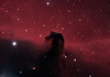 Target:  Horsehead Nebula; B 33 (dark nebula in Orion, apparent dimension 6x4 arcmin) in IC 434 (emission nebula in Orion)<br /> <br /> Distance from Earth:  1500 light-years<br /> <br /> Image FOV:  24 x 17 arcmin<br /> <br /> Date/Time: 10/31/08 0142 EDT to 0625 EDT<br /> <br /> Mount: Takahashi NJP Temma II<br /> <br /> Telescope: Takahashi TOA-130 refractor with Tak 0.98x flattener (f/7.5) and Hutech LPS filter<br /> <br /> Camera: Starlight Xpress SXVF-M25C ccd guided by SX Autoguider with Takahashi FS-60C refractor (f/5.9)<br /> <br /> Focus: Finger Lakes Instrumentation DF-2 focuser with FocusMax/MaxIm DL software<br /> <br /> Sky conditions:  transparency 3/5, seeing 4/5<br /> <br /> Moonset:  10/30/08 1854 EDT<br /> <br /> Images: Captured with MaxIm DL 4.60 at an image scale of 1.64 arcsec/pixel; 21 light exposures, 600 sec duration; 1, 600 sec dark frame; 27, 1.0 sec flat_light frames; 27, 1.0 second flat_dark frame and 27, 0.1 sec bias frames; 18 frames were used for alignment and stacking <br /> <br /> Processing: MaxIm DL 5.00, DeepSkyStacker 3.2.2 and Photoshop CS3 with Photoshop Tools and Noise Ninja; original image cropped and 3x drizzle stacked in DSS before processing in PS; image downsampled (revised 03/16/09)