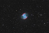 Target:  M27 (NGC 6853, Dumbbell Nebula, planetary nebula in Vulpecula)<br /> <br /> Distance from Earth:  1250 light-years<br /> <br /> Image FOV:  46 x 31 arcmins<br /> <br /> Telescope: PlaneWave CDK 20 (f/4.5)<br /> <br /> Camera: FLI ProLine PL11002M<br /> <br /> Images: Luminance data captured at an image scale of 0.82 arcsec/pixel (binned 1x1) and RGB data captured at an image scale of 1.64 arcsec/pixel (binned 2x2); 60, 180 sec subexposures; 72 minutes (L), 36 minutes (R), 36 minutes (G) 36 minutes (B) on May 31 and June 6, 7, 2011; total exposure time of 180 minutes<br /> <br /> Processing: MaxIm DL 5.12, Registar 1.0 and Photoshop CS3; final image scale 0.82 arcsec/pixel, image cropped