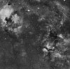 Target: Region of Alpha Cygni (Deneb) and Gamma Cygni (Sadr) (emission nebulae in Cygnus including NGC 6888 [Crescent Nebula], IC 1318 [Butterfly Nebula] and NGC 7000 & IC 5070 [North America & Pelican Nebulae]; 4-panel mosaic in narrowband (Ha)<br /> <br /> Distance from Earth:  4100, 3700 and 1600 light-years, respectively<br /> <br /> Image FOV:  576 x 573 arcmins<br /> <br /> Mount: Takahashi NJP Temma II<br /> <br /> Telescope: Pentax 6x7 165mm lens (f/5.6) and Astronomik 14nm Ha filter <br /> <br /> Camera: Starlight Xpress SXVR-H16 ccd guided by SX Lodestar with Takahashi FS-60C refractor (f/5.9)<br /> <br /> Focus: Finger Lakes Instrumentation PDF focuser with FocusMax/MaxIm DL software<br /> <br /> Images: Captured with MaxIm DL 5.10 at an image scale of 9.25 arcsec/pixel; total exposure time of 700 minutes on Aug 26, 27, 28, 2010<br /> <br /> Processing: MaxIm DL 5.10, Registar and Photoshop CS3; Ha images processed in MaxIm DL, aligned in Registar and copied into PS; image cropped