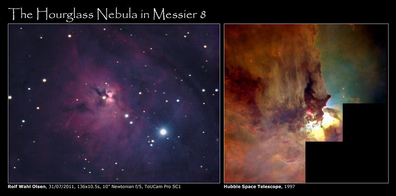 The Hourglass Nebula in Messier 8