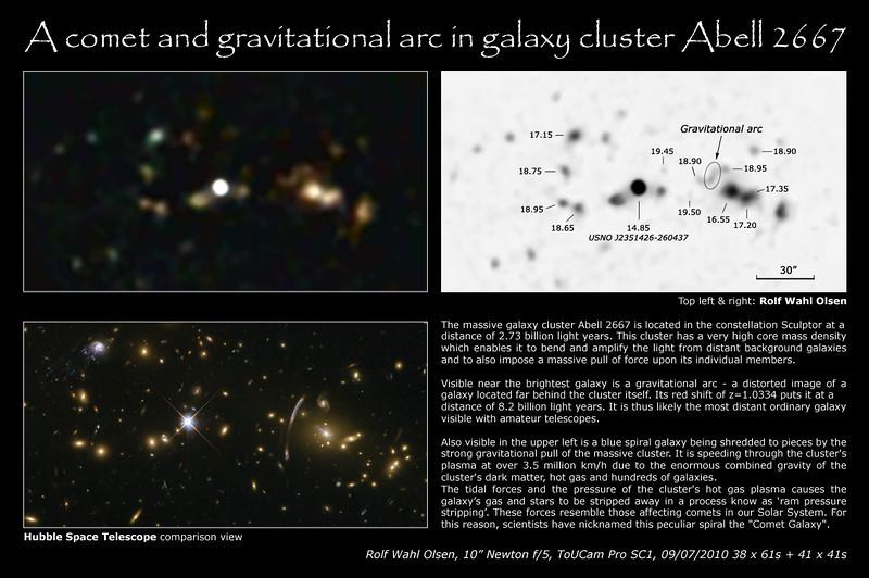 Gravitational Arc in Abell 2667