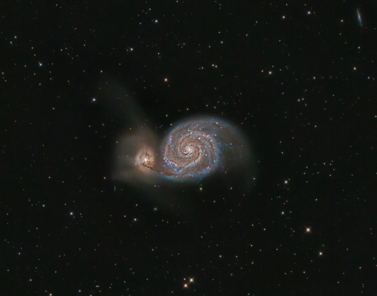 M51 Whirlpool Galaxy (crop from full frame)