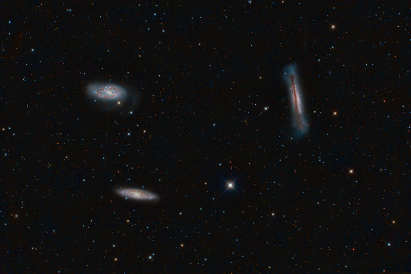 Leo Triplet: M66, M65, NGC 3628