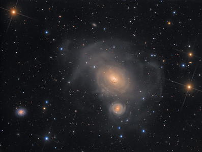 Colliding Galaxy Pair NGC 1316 and NGC 1317 in Fornax