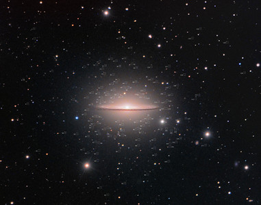 The Sombrero Galaxy and a Swarm of Globular Clusters (annotated)