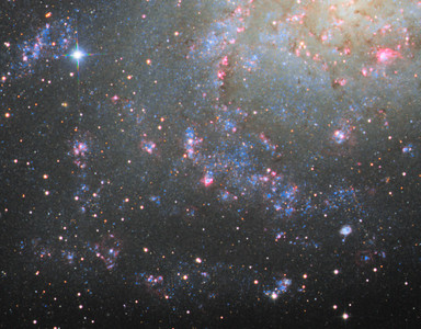 M33 - closeup on spiral arms