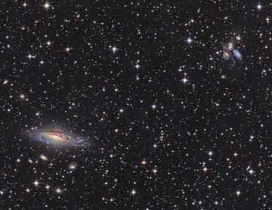 NGC7331 and Stephen's quintet