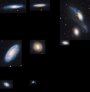 Markarian's Chains close ups