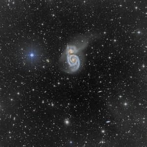 M51 through nebulosity
