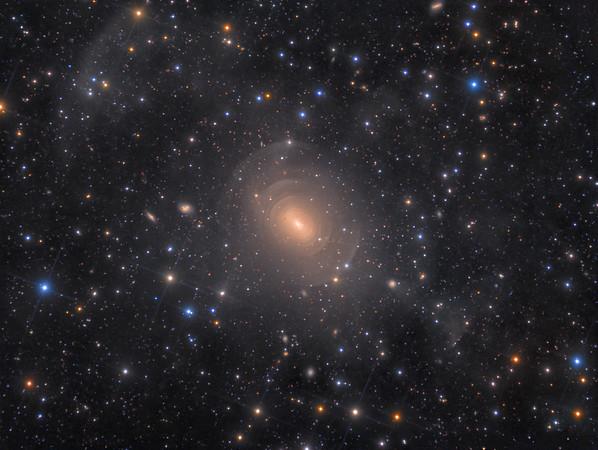 Deep Image of Peculiar Shell Elliptical Galaxy NGC 3923 in Hydra