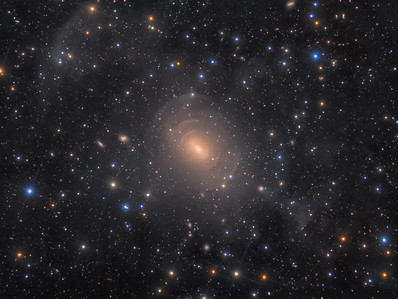 Deep Image of Peculiar Shell Elliptical Galaxy NGC 3923 in Hydra