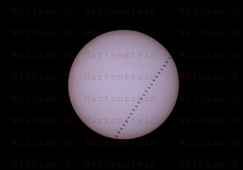 ISS crosses Sun 07-31-2019 at 15:55:30 Santa Clarita, CA. USA