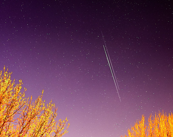 Iridium & Rocket Body Flare