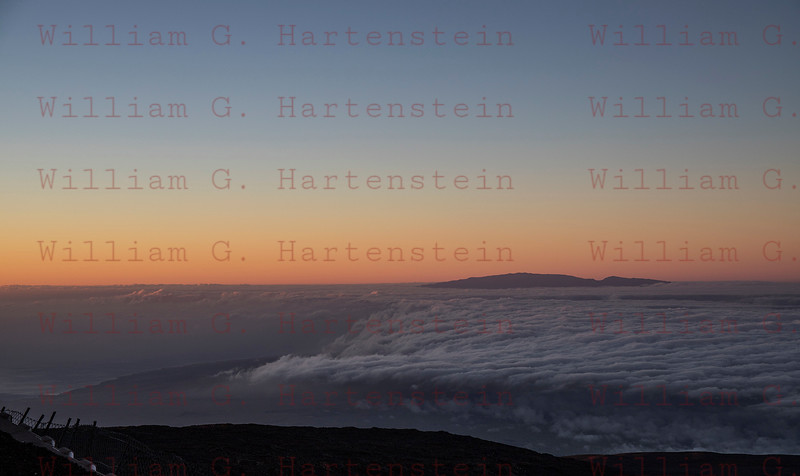 The Island of Maui from Mauna Kea Summit at a distance of 80 miles. 12-03-17