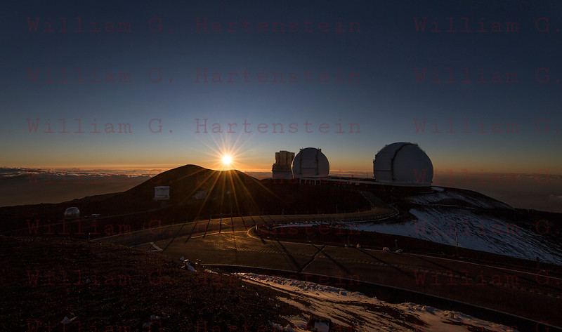 Sunset over Mauna Kea Observatory 12-03-2017