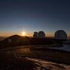 Sunset over Mauna Kea Observatory 12-03-2017