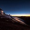 Sunset on Mauna Kea Observatory Summit 12-03-17