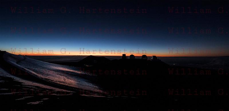 Sunset over Mauna Kea Observatory, HI 12-03-17
