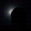 Super Moon rise behind the CFHT Mauna Kea Observatory 12-03-17