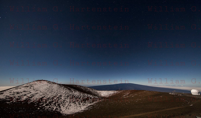 Mauna Kea Observatory Summit with Mauna Loa in the background 12-03-17