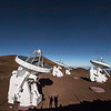 The Submillimeter Array (SMA) Lit by Super Moon at Mauna Kea Observatory 12-03-2017