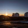 Sunset on Mauna Kea Observatory Summit 12-03017