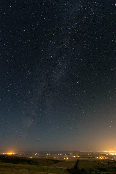 2012 Perseid meteor over the Foothills of the Blue Mountains