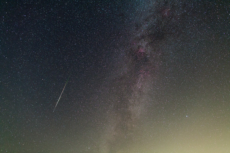 2013 Perseid meteor over the Foothills of the Blue Mountains