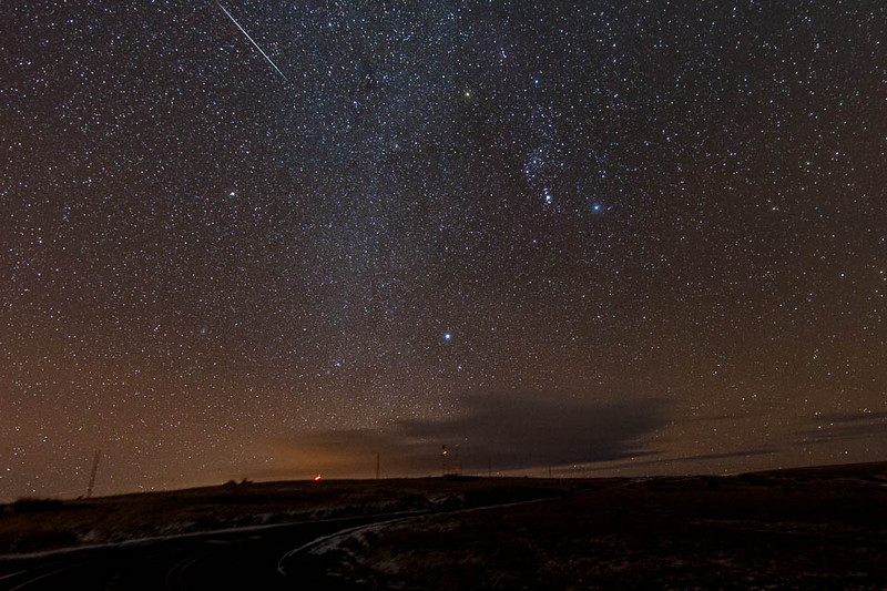 2012 Geminids over Emigrant Hill