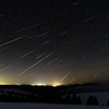2014 Geminids near Pilot Rock, Oregon; composite