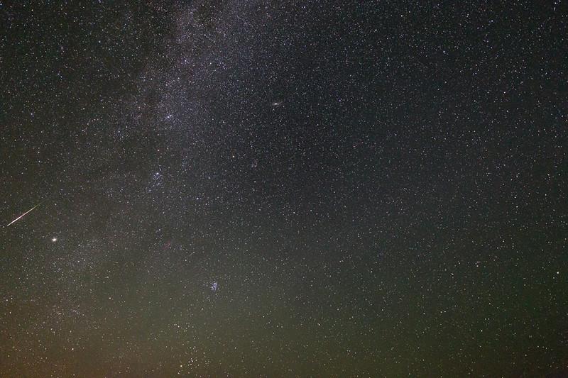 2013 Perseid meteor over Pearson Ridge, Oregon