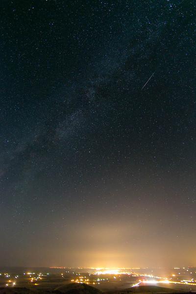 2012 Perseid meteor over Pendleton, Oregon