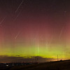 2015 Taurid Meteor Shower Emigrant Hill, Oregon; Aurora Borealis; composite