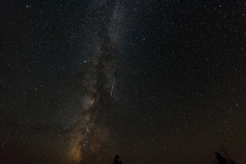 2013 Perseid meteor over Pearson Ridge, Oregon