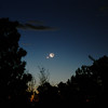 Waning crescent moon with Venus