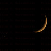 Moon with Venus low in the west sky, 07-15-2018 from Santa Clarita, CA.